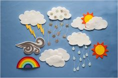 What's the Weather PDF Pattern Buy 3 patterns get 1 pattern free Felt Board Set Farm Insects Counting 5