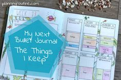My next Bullet Journal: The Things I Keep