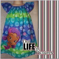 Girls Custom Made Bubble Guppies  Dress   Sz. by Pinkybomb on Etsy, $28.00