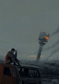 """""""Initiation Into Nothingness"""": A Separate Reality And Dreamy Otherworlds In Incredible Artworks By Alex Andreev Apocalypse World, Apocalypse Art, Fallout, Alex Andreev, Apocalypse Aesthetic, Post Apocalyptic Art, Between Two Worlds, Psy Art, After Life"""