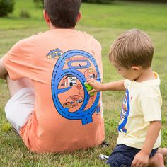 Grandpa's Race Track Shirt for Dad Fathers Day.  Race Car Road Map