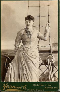 Victorian faux ship deck studio cabinet photo.