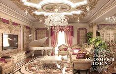 Элитный дизайн особняка с уютной гостиной в классическом стиле от Лакшери Антонович Дизайн