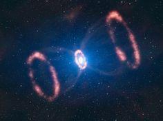 Material Around Supernova 1987A (artist's impression)