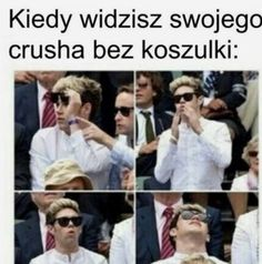 One Direction, Polish Memes, Dark Sense Of Humor, Funny Mems, Happy Photos, Niall Horan, Reaction Pictures, Best Memes, Larry