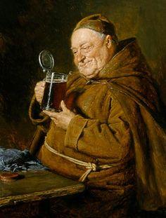 Image: Eduard Grützner - Beer test