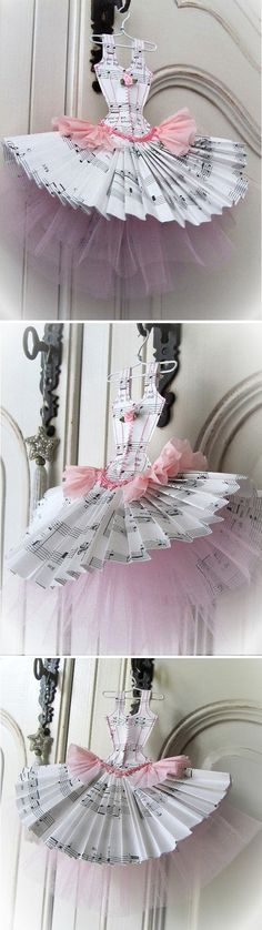 Papier Boudoir Boutique - Music Box Dancer with tulle 3d Paper Crafts, Scrapbook Paper Crafts, Paper Art, Diy And Crafts, My Scrapbook, Scrapbooking, Music Paper, Dress Card, General Crafts