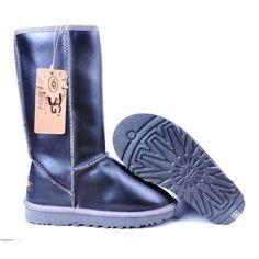 UGG Metallic Classic Tall Boots 5812 Black   http://uggbootshub.com/classic-ugg-boots-ugg-metallic-classic-tall-boots-5812-c-58_72.html