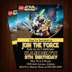 Lego Star Wars Invitation