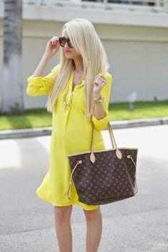 A Spoonful of Style: Lemon Yellow Shirtdress...