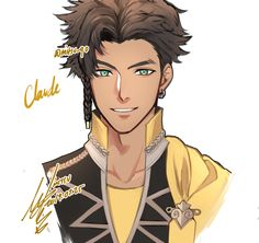 Claude Robin, Nerd Show, Deer Girl, Blue Lion, Fire Emblem Fates, Tan Skin, Love Blue, Knights, Anime Guys