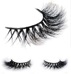 49172e5b8cc ... Double Layered 3D Mink Eyelashes - Reusable 25 Times 100% Cruelty Free  Siberian Mink Luxury Strip Natural False Eyelash Extensions: Amazon.co.uk:  Beauty