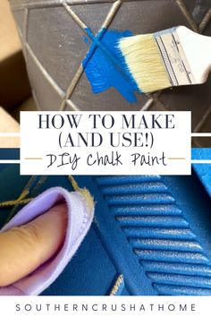 Learn how to make (and use!) your own DIY chalk paint with this fun and easy to follow tutorial!  #diytutorial #homedecor #chalkpaint What Is Chalk Paint, Using Chalk Paint, Diy Chalk Paint Recipe, Plastic Planters, Paint Supplies, Paint Drying, How To Make Diy, Diy Box, Diy Painting