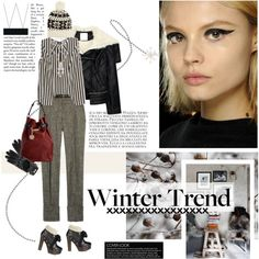 It's snowing outside, created by frou-frou on Polyvore