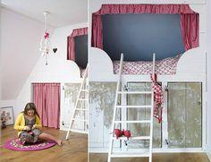 built-in sleeping nook bunk for kids
