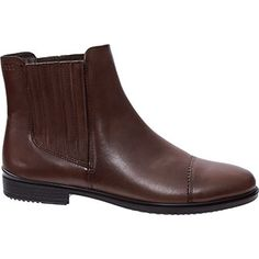 6eb14620775a Chocolate Leather Chelsea Boots Tall Boots