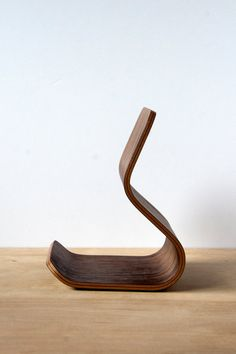 Tablet Stand  Walnut  Bent Plywood by Ciseal on Etsy, $80.00