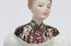 Tattooed Porcelain Figures by Jessica Harrison Jessica Harrison proposes a multi-directional and pervasive model of skin as a space in which body and world mingle. Working with this moving space be...