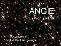 The AMB Awards provide honors and recognition of authors' outstanding achievements in the AA/IR/Multicultural romance genres. See http://www.angelinembishop.com/the-angie.html for more information.