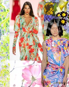 Spring/Summer 2021 Print Trend - Ethereal Flower - Reality Worlds Tactical Gear Dark Art Relationship Goals Summer Fashion Trends, Spring Fashion, Spring Summer Trends, Flower Patterns, Print Patterns, Fashion Forecasting, Color Trends, Pattern Fashion, Nice Dresses