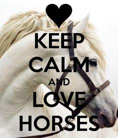 Reste calme et aime les chevaux