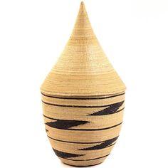 African Basket - Rwanda - Agaseke Peace Basket - 13 Inches Tall - #25860