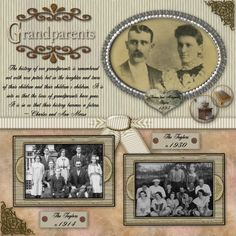 Old Look Scrapbooking Layout   ... scrapbooking layouts . just how perfect this look is for heritage