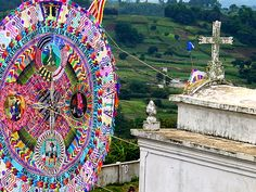 Day of the Dead Guatemala. November 1st, or All Saints Day is the day after Halloween. Of course the Maya put their own spin on all things Christian and celebrate it as the Day of the Dead, with a great kite festival, and celebrations in the graveyard.
