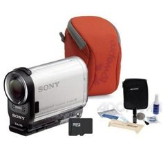 "Sony HDR-AS200V Full HD Action Camera, 8.8MP with Basic Accessory Bundle. Sony HDR-AS200V, a versatile splash-resistant camera that records 1080p video up to 60 fps, with a four-section aluminum camera support pole that extends from 11.9"" to 35.9"" to capture unique angles and wide selfie shots. http://www.specssite.com/video-recording/Sports-and-Action-Camcorder.htm"