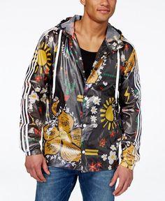 adidas Originals Men's Pharrell Williams Doodle Rain Jacket