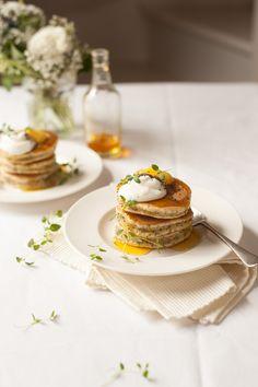 pancakes, three ways: lemon poppyseed pancakes