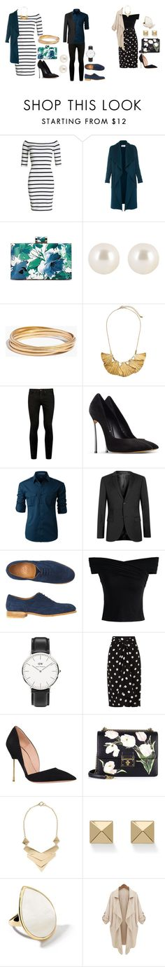 """""""Double Date"""" by strawberryfelton on Polyvore featuring Mode, Superdry, L.K.Bennett, Henri Bendel, Madewell, H&M, Topman, Casadei, LE3NO und Toast"""