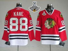 Blackhawks #88 Patrick Kane Embroidered Red Stanley Cup Champions NHL Jersey