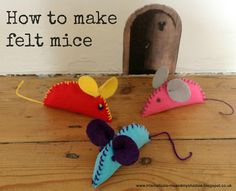 felt mice pattern | easy decoration for cat party