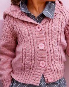 "Photo from album ""Vaikiski mod virbalais"" on Yandex. Crochet Kids Hats, Crochet Coat, Knitting For Kids, Baby Knitting, Crochet Baby, Baby Boy Cardigan, Baby Pullover, Knit Cardigan, Tricot Baby"