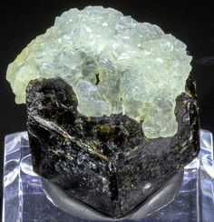 Ultra Rare!!!  Prehnite on Andradite Grossular Garnet Mineral Specimen - Mali