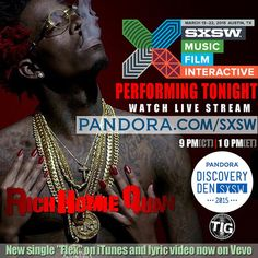 @richhomiequan performing @pandora Discovery Den 9PM Central and 10PM Eastern www.pandora.com/SXSW #sxsw #pandora #richhomiequan #thinkitsagame