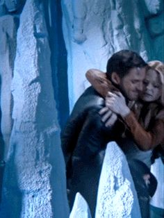 "Killian carrying his ""Princess"" to safety. (gif)"