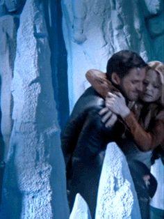 "Killian carrying his ""Princess"" to safety. (gif)"