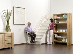 Folding stairlift / armchair type / exterior Duo  Högg Liftsysteme