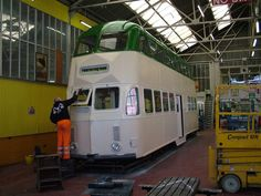 723 getting painted Light Rail, Blackpool, Coaches, Buses, Trains, Transportation, Trainers, Busses, Train