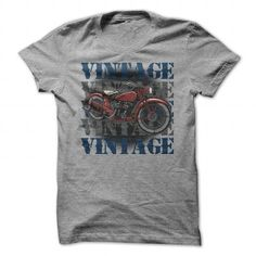 Vintage Vintage Vintage Motorcycle shirt for Bikers T Shirts, Hoodies. Get it now ==► https://www.sunfrog.com/Automotive/Vintage-Vintage-Vintage-Motorcycle-T-shirt-for-Bikers-SportsGrey-54043243-Guys.html?57074 $19.99