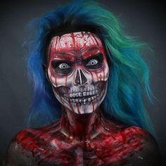 Global leader in Professional Stage & Screen, Special FX, Cosplay, Beauty and Halloween Makeup. Shop the makeup used by top Hollywood and Broadway Pros. Body Makeup, Sfx Makeup, Costume Makeup, Amazing Halloween Makeup, Scary Halloween, Halloween Face Makeup, Creepy Makeup, Horror Makeup, Makeup Ideas
