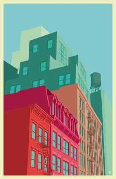 #New York #illustrations #Behance #architecture