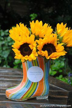 """boot as flower """"pot"""""""