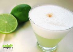 Peruvian Pisco Sour.  Made with Pisco, peruvian limes, sugar, egg whites.....OMG delicious!