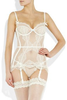 I will wear this agent provocateur penelope basque without the straps under my wedding dress.