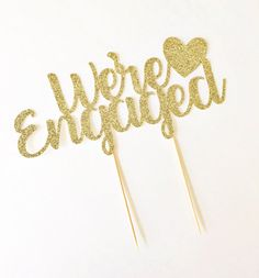 We're Engaged Cake Topper / Engagement Party Decor / She Said Yes / Bride To Be…