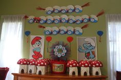 smurf party favors