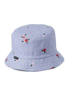c47be9e54b8 Mini stripe and rose bucket hat